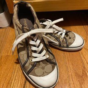 Authentic Coach Barrett Sneaker-Brown Size 8